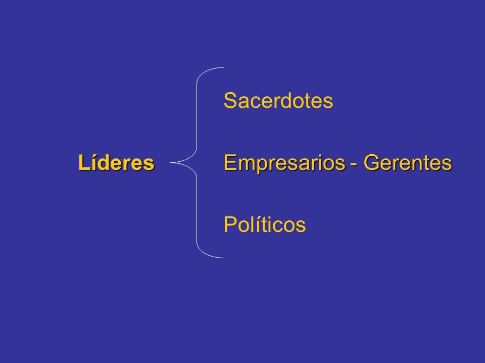 Sacerdotes LíderesEmpresarios - Gerentes Políticos