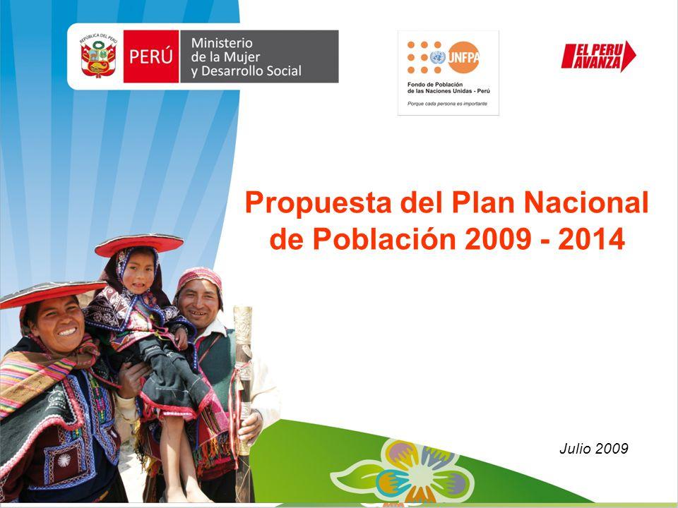 Propuesta del Plan Nacional de Población 2009 - 2014 Julio 2009