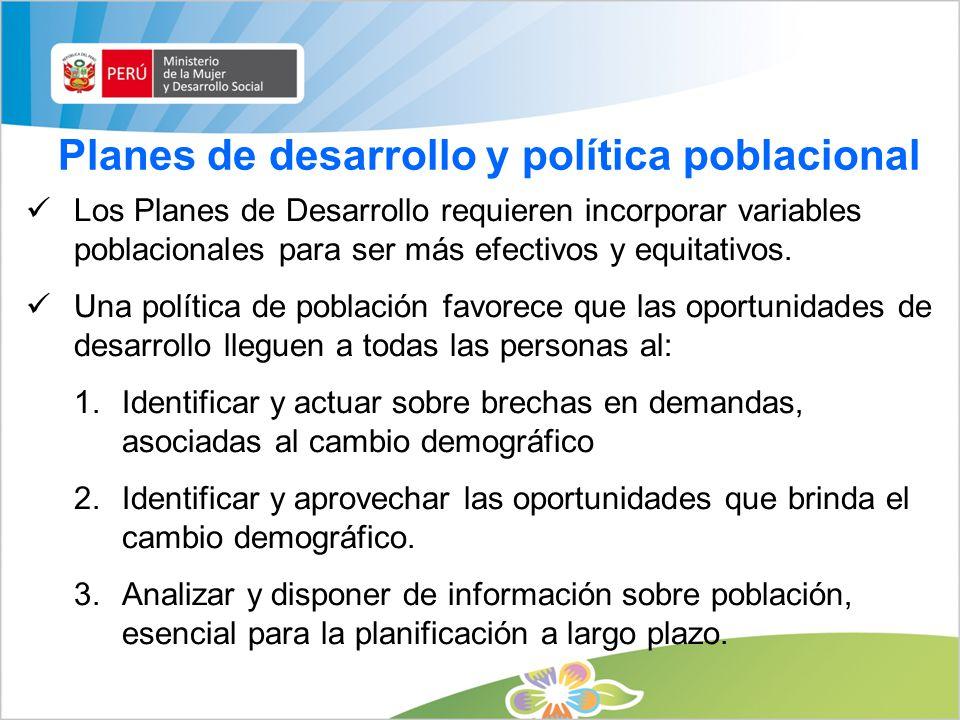 Reforzamiento de las capacidades técnicas de las instituciones públicas nacionales y regionales responsables del cumplimiento del Plan de Población.