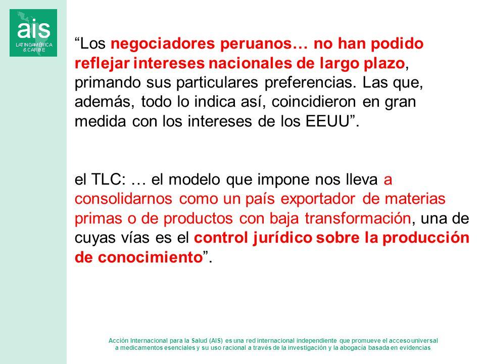Los negociadores peruanos… no han podido reflejar intereses nacionales de largo plazo, primando sus particulares preferencias.