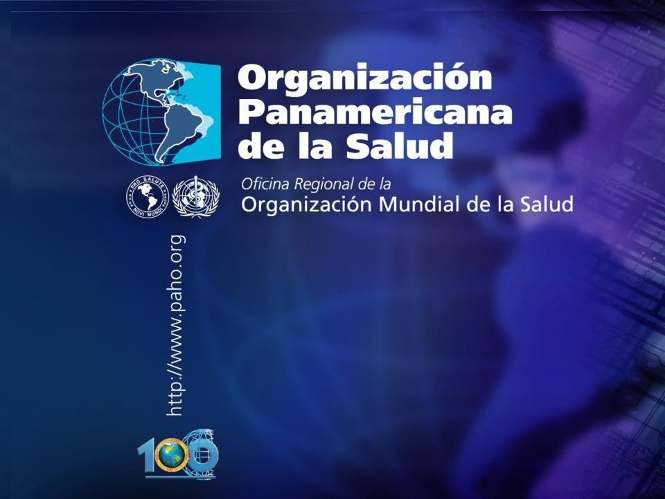 2005 Organización Panamericana de la Salud....