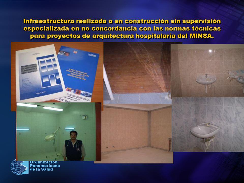 2005 Organización Panamericana de la Salud Infraestructura realizada o en construcción sin supervisión especializada en no concordancia con las normas
