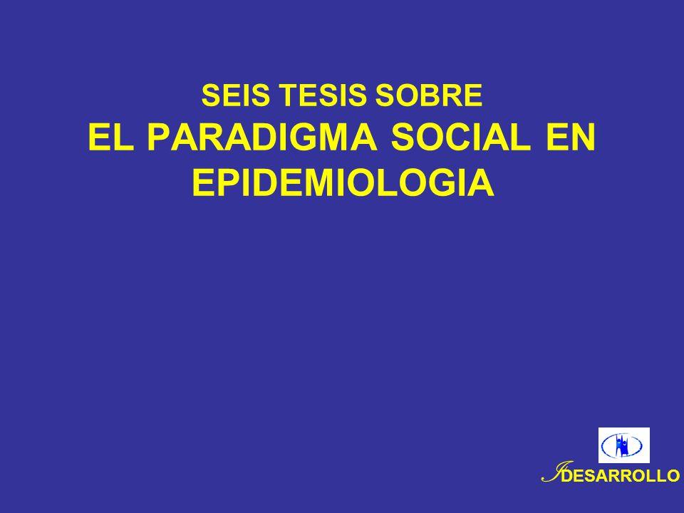 SEIS TESIS SOBRE EL PARADIGMA SOCIAL EN EPIDEMIOLOGIA I DESARROLLO
