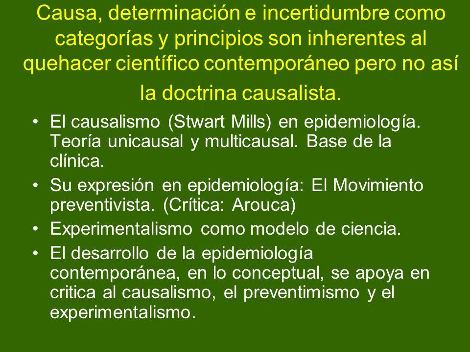 Causa, determinación e incertidumbre como categorías y principios son inherentes al quehacer científico contemporáneo pero no así la doctrina causalis