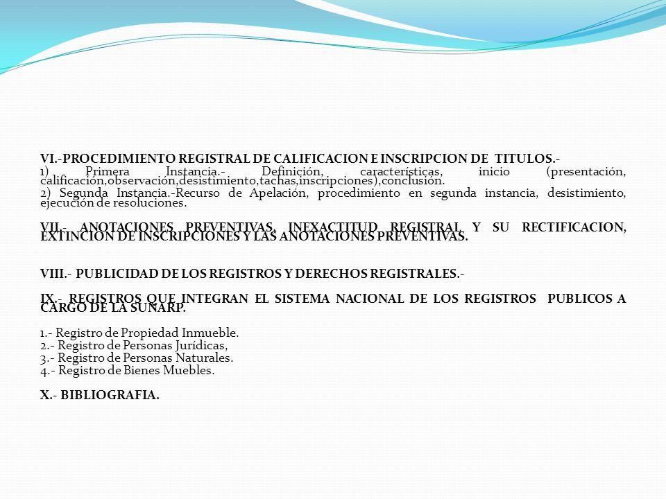 III.- ESTRUCTURA ORGANICA DE LA SUNARP Y ORGANOS DESCONCENTRADOS.