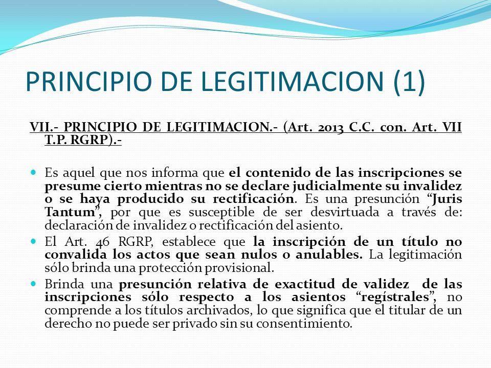 PRINCIPIO DE TRACTO SUCESIVO (2) D) Tiene dos manifestaciones fundamentales; sustantiva, que se refiere que el acto inscribible derive del titular ins