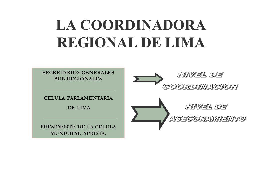 LA ORGANIZACIÓN DE LIMA §Para el caso de Lima Metropolitana, teniendo en cuenta su carácter de región de Régimen Especial, dado su rango de capital de