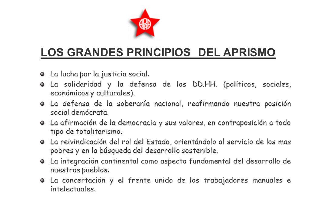LOS GRANDES PRINCIPIOS DEL APRISMO La lucha por la justicia social.