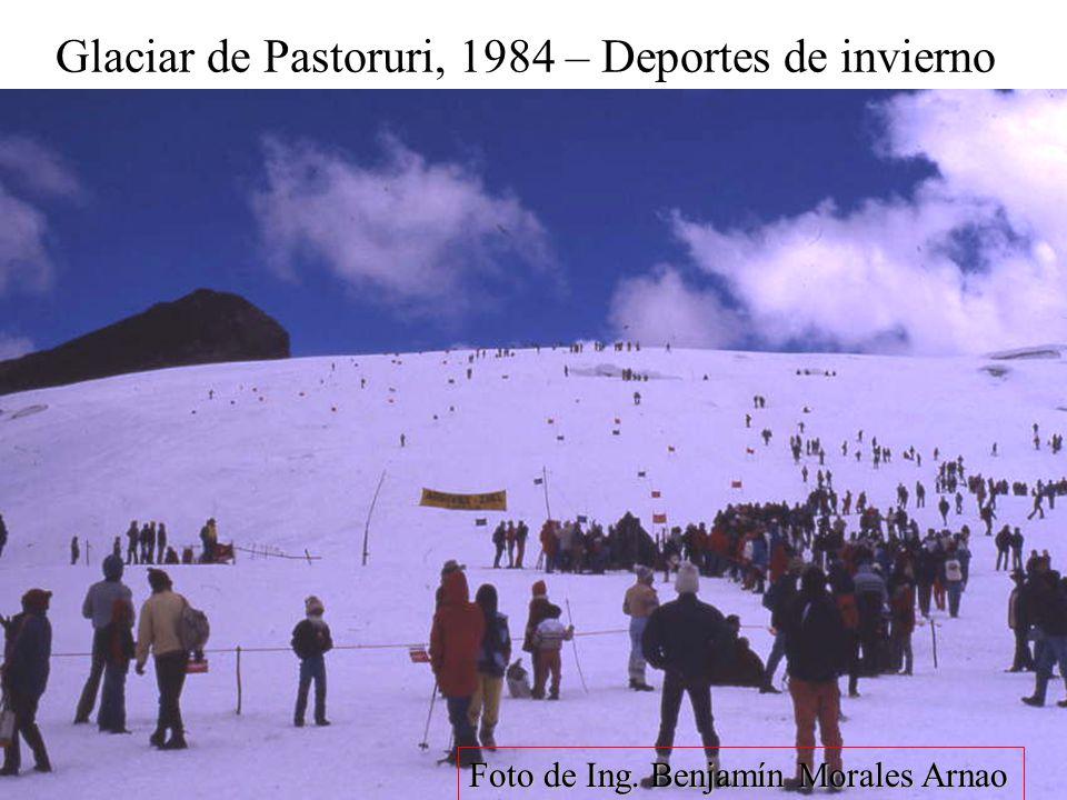 Glaciar de Pastoruri, 1984 – Deportes de invierno Foto de Ing. Benjamín Morales Arnao