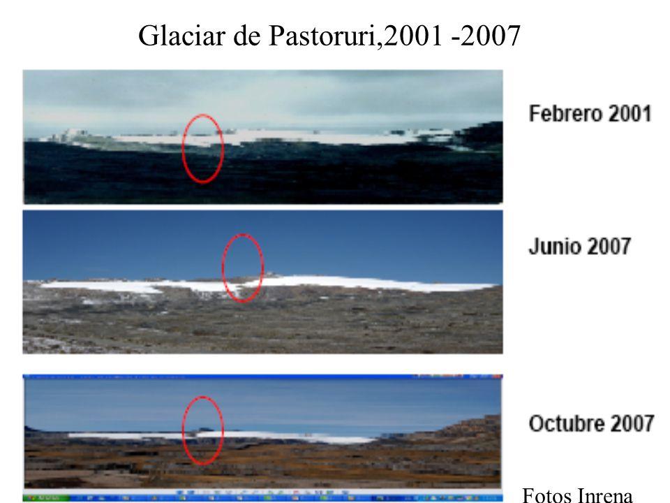 Glaciar de Pastoruri,2001 -2007 Fotos Inrena