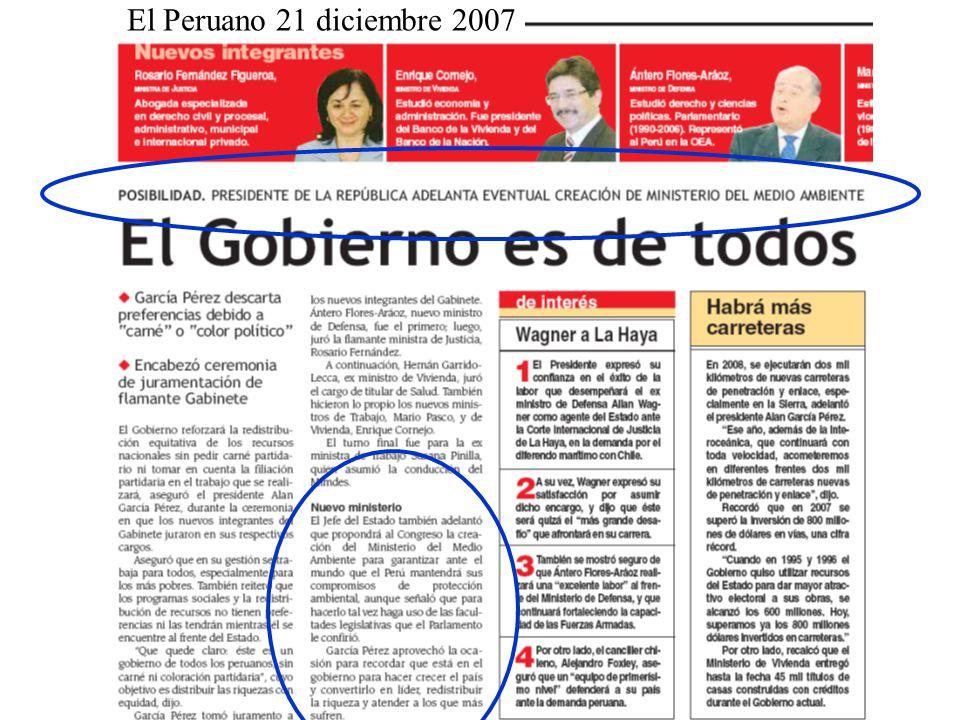 El Peruano 21 diciembre 2007