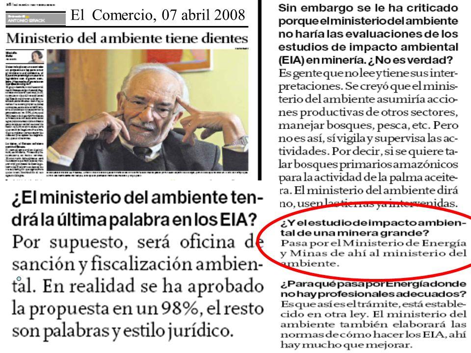 El Comercio, 07 abril 2008