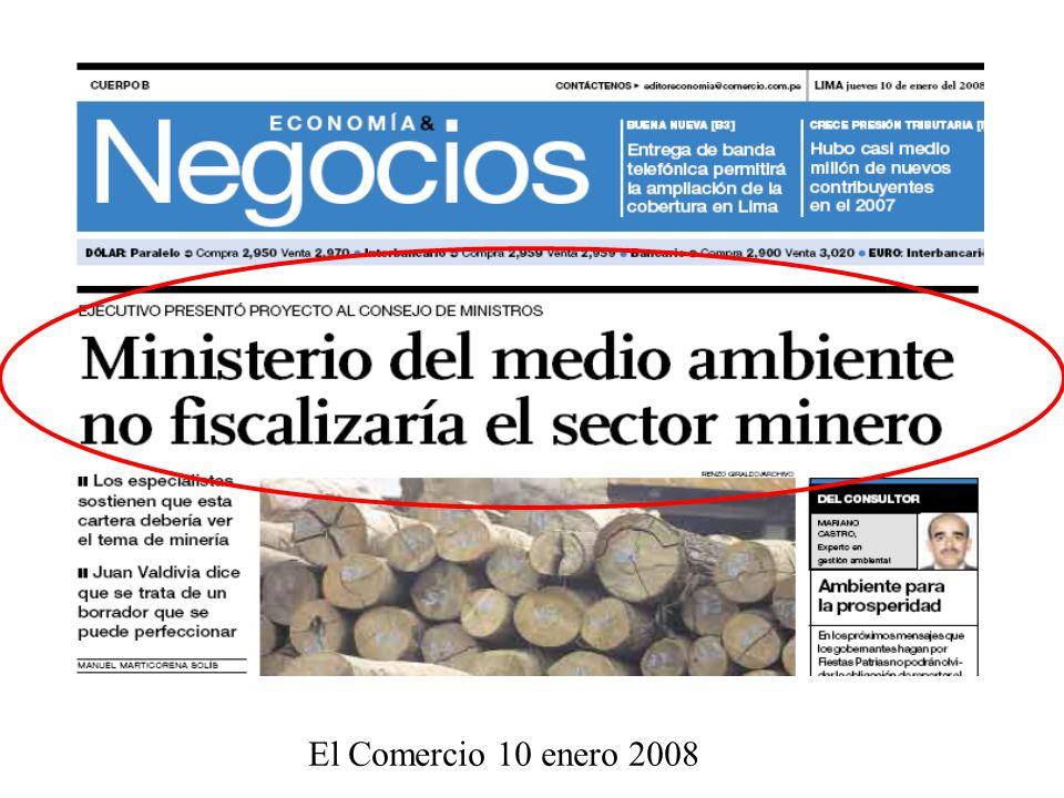 El Comercio 10 enero 2008