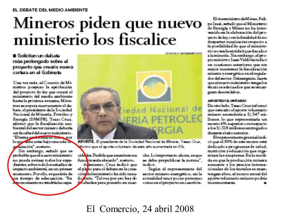 El Comercio, 24 abril 2008
