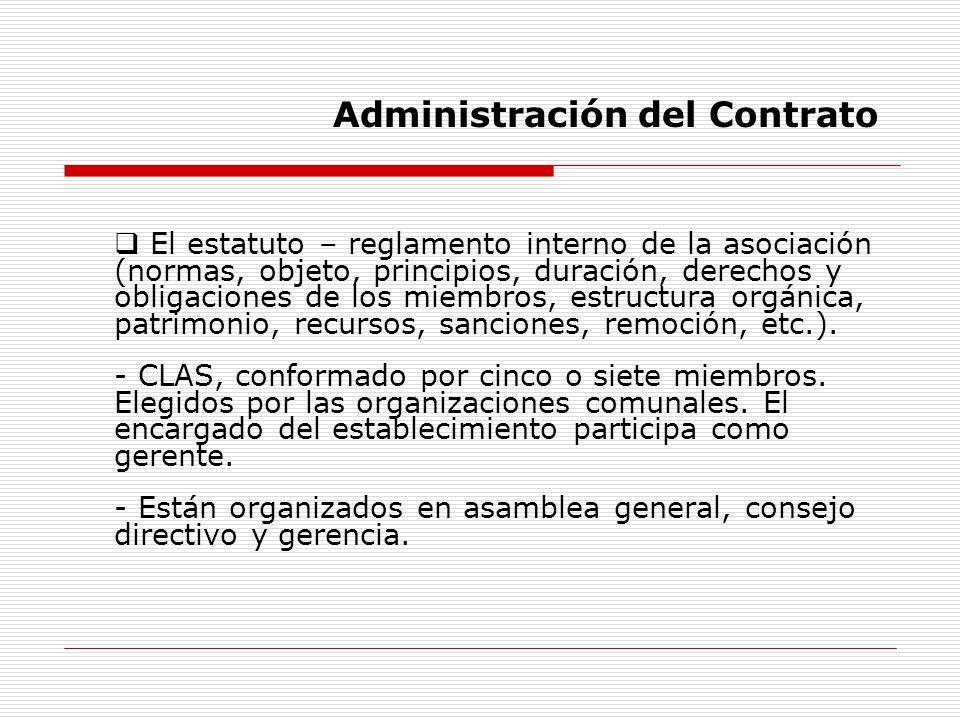 El estatuto – reglamento interno de la asociación (normas, objeto, principios, duración, derechos y obligaciones de los miembros, estructura orgánica,
