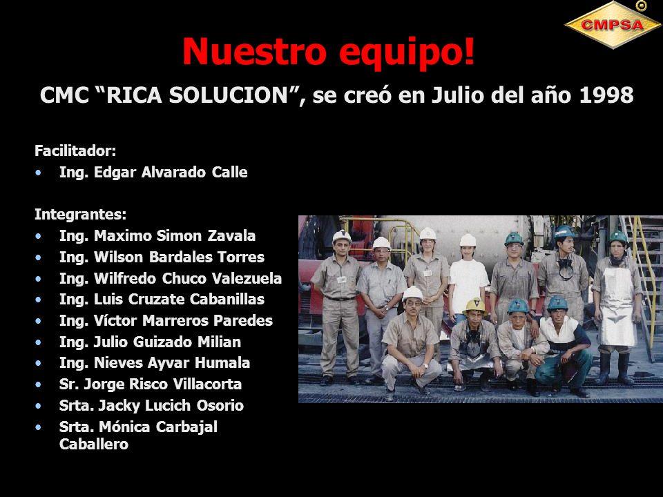 Nuestro equipo! Facilitador: Ing. Edgar Alvarado Calle Integrantes: Ing. Maximo Simon Zavala Ing. Wilson Bardales Torres Ing. Wilfredo Chuco Valezuela