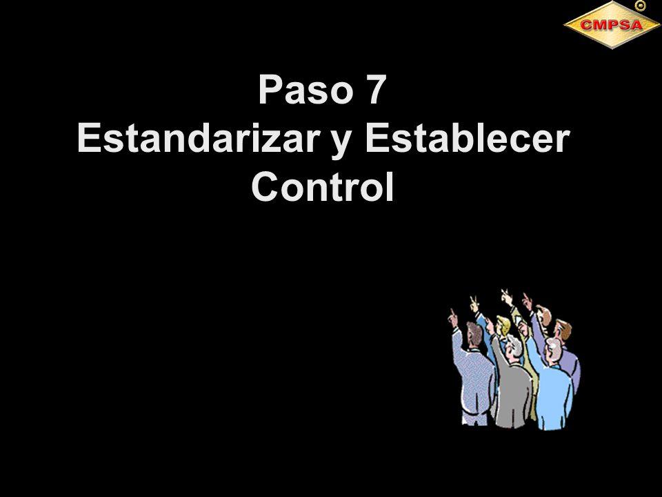 Paso 7 Estandarizar y Establecer Control
