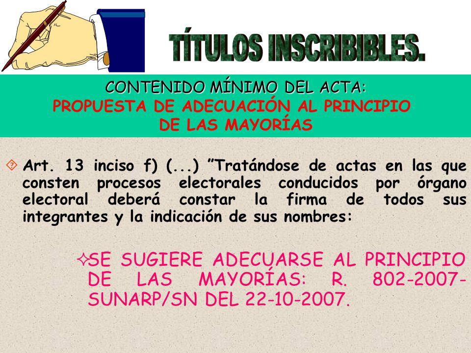 7 ACTAS INSERTAS EN LIBRO RESPECTIVO.PROPUESTA DE REGULACIÓN UNIFORME.