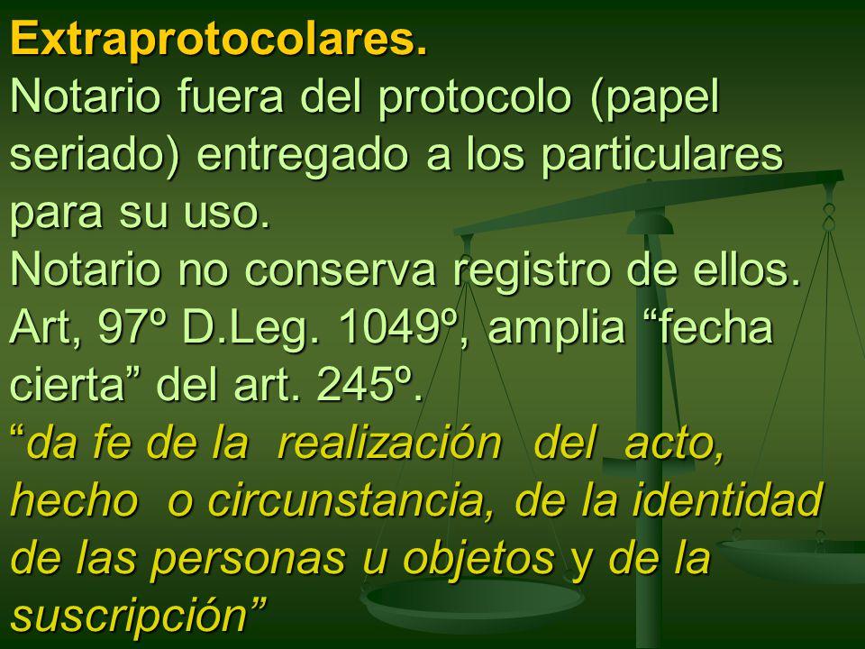 Extraprotocolares.