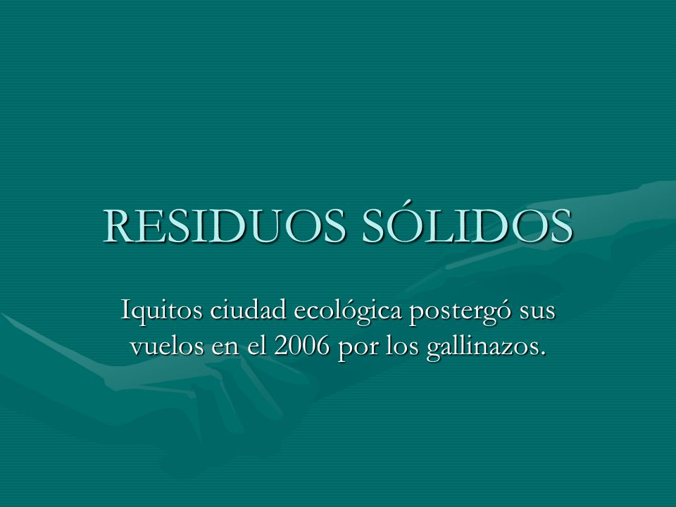 RESIDUOS SÓLIDOS Iquitos ciudad ecológica postergó sus vuelos en el 2006 por los gallinazos.