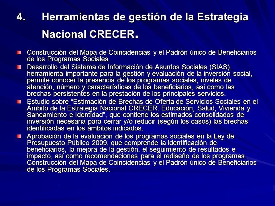 4. Herramientas de gestión de la Estrategia Nacional CRECER. Construcción del Mapa de Coincidencias y el Padrón único de Beneficiarios de los Programa