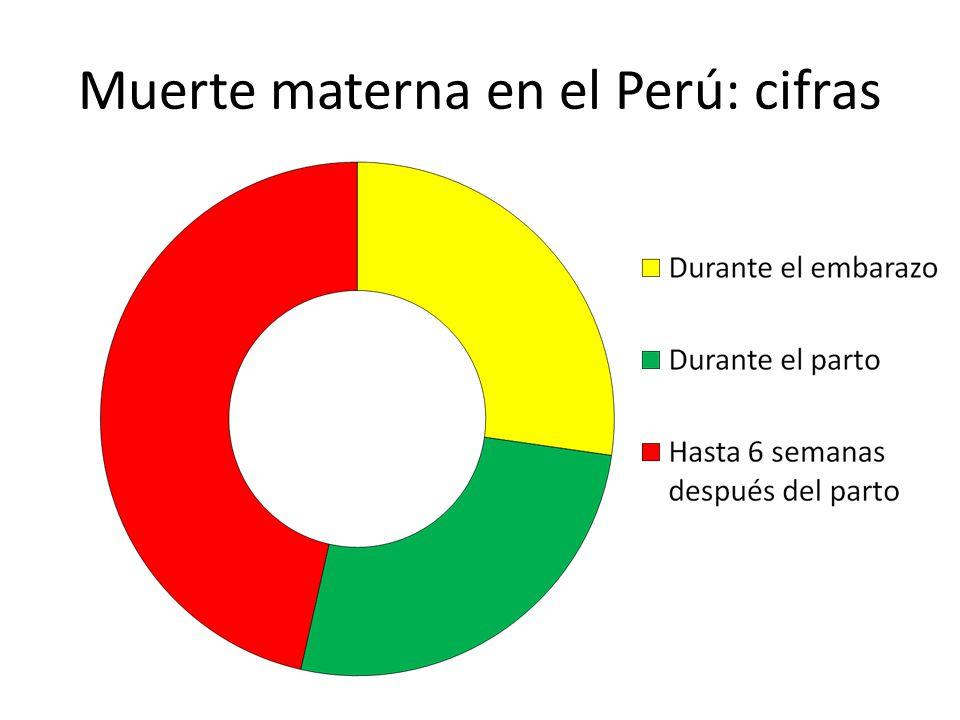 Muerte materna en el Perú: cifras