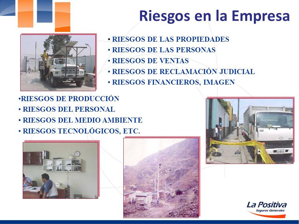 Riesgos en la Empresa RIESGOS DE LAS PROPIEDADES RIESGOS DE LAS PERSONAS RIESGOS DE VENTAS RIESGOS DE RECLAMACIÓN JUDICIAL RIESGOS FINANCIEROS, IMAGEN