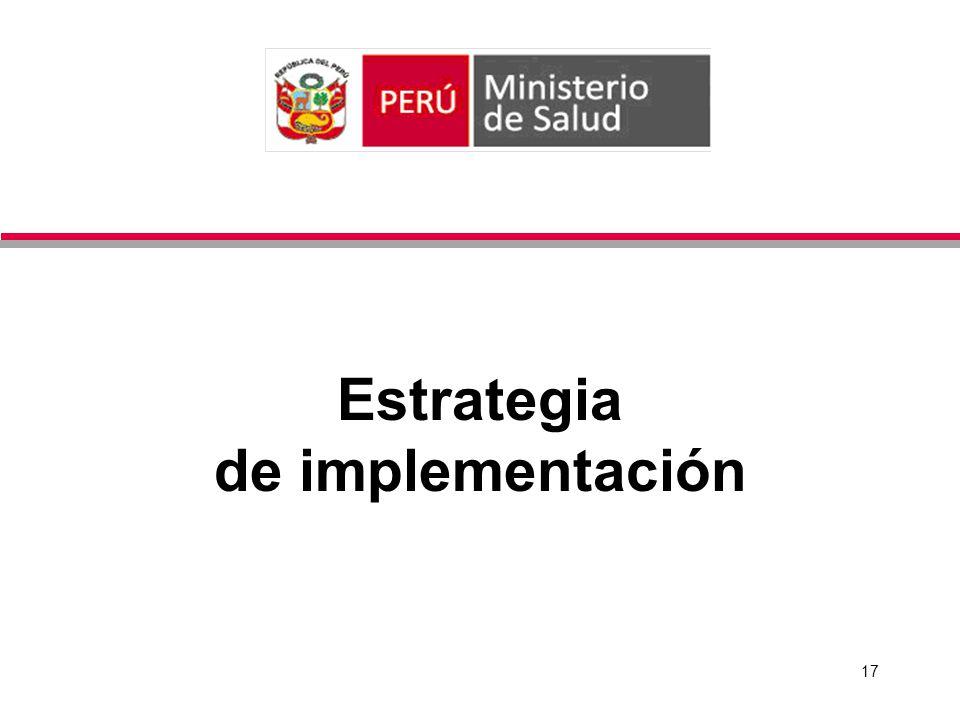 17 Estrategia de implementación
