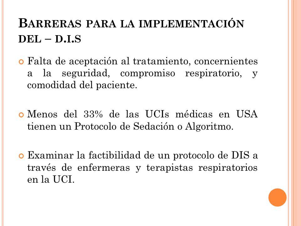 B ARRERAS PARA LA IMPLEMENTACIÓN DEL – D.I.