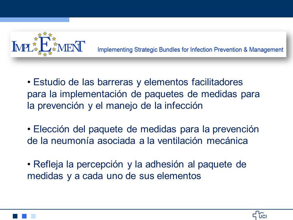 UCI Estudio de las barreras y elementos facilitadores para la implementación de paquetes de medidas para la prevención y el manejo de la infección Ele