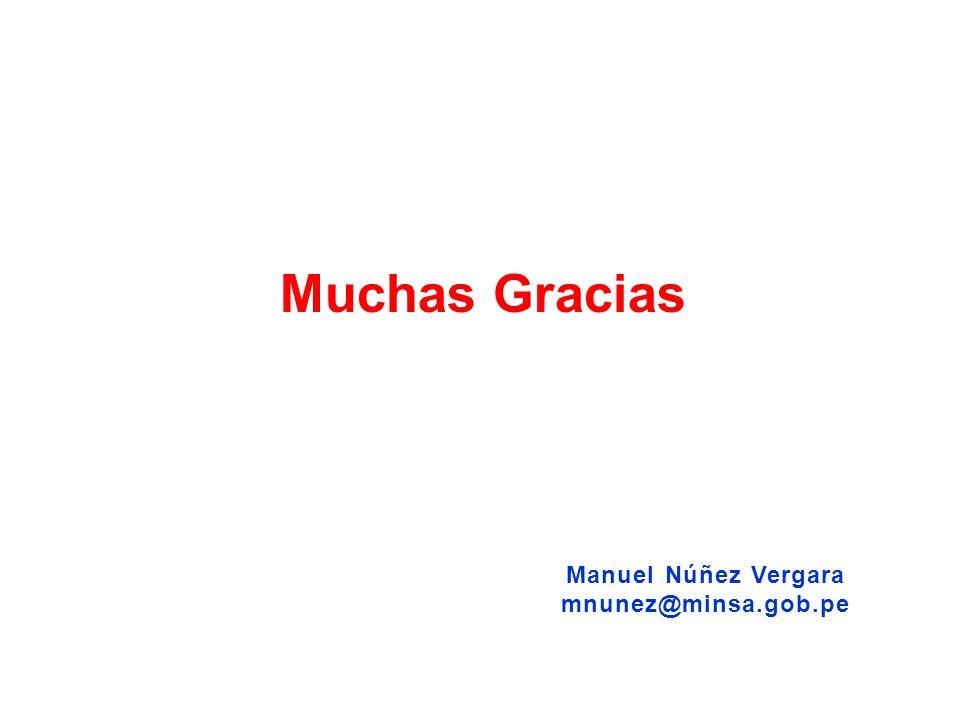 Manuel Núñez Vergara mnunez@minsa.gob.pe Muchas Gracias