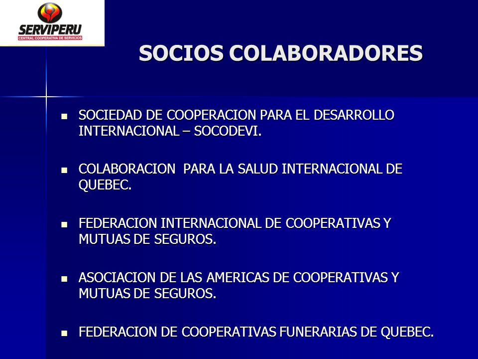 SOCIOS COLABORADORES SOCIEDAD DE COOPERACION PARA EL DESARROLLO INTERNACIONAL – SOCODEVI. SOCIEDAD DE COOPERACION PARA EL DESARROLLO INTERNACIONAL – S