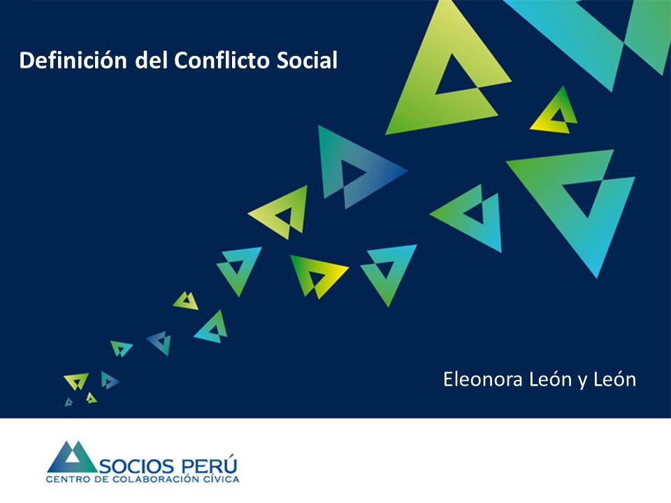 Definición del Conflicto Social Eleonora León y León