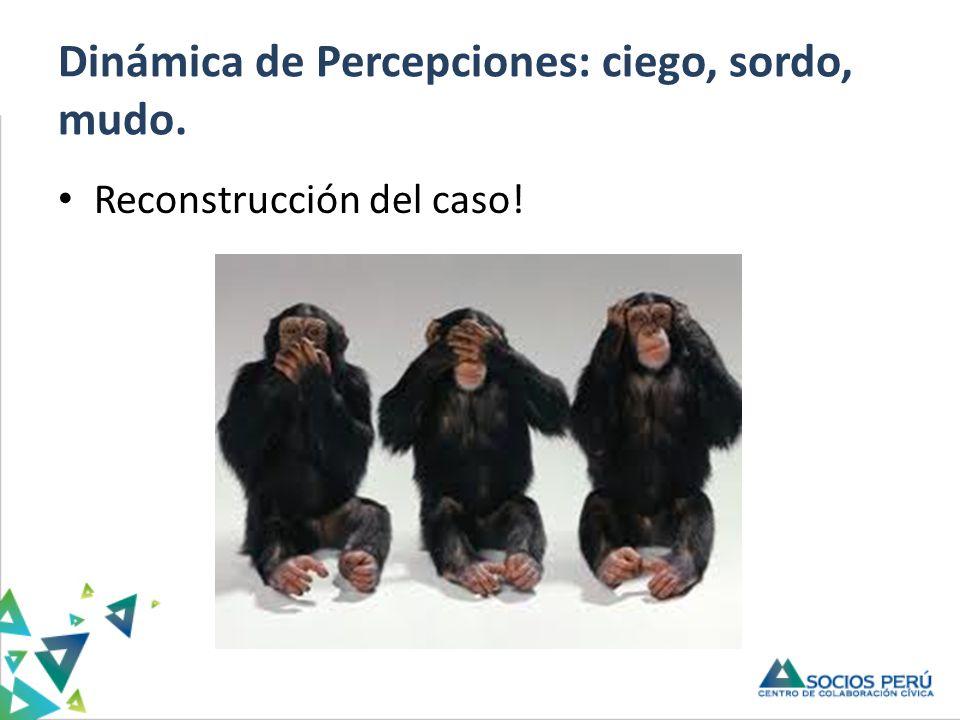 Dinámica de Percepciones: ciego, sordo, mudo. Reconstrucción del caso!