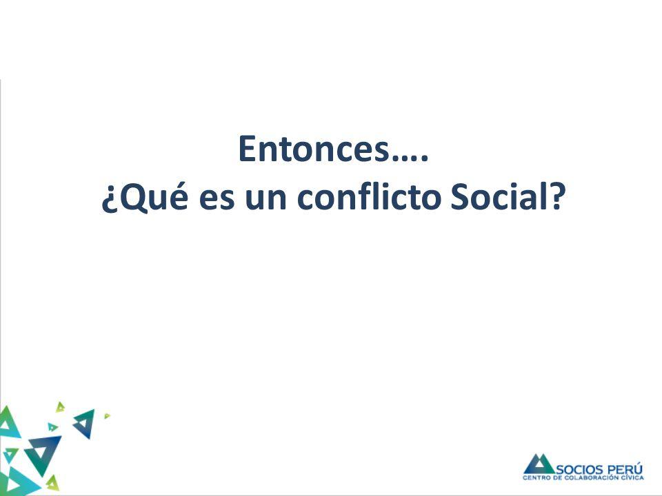 Titulo Entonces…. ¿Qué es un conflicto Social?