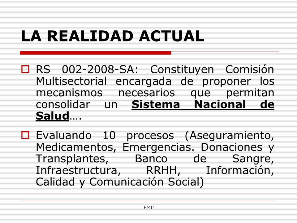 FMP RS 002-2008-SA: Constituyen Comisión Multisectorial encargada de proponer los mecanismos necesarios que permitan consolidar un Sistema Nacional de