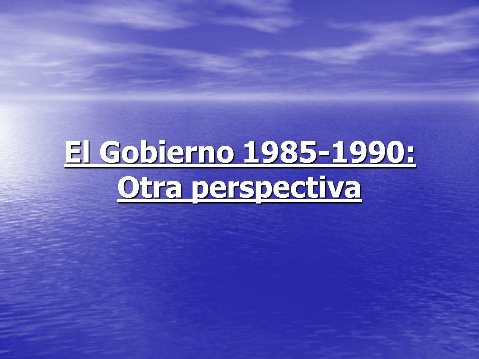 El Gobierno 1985-1990: Otra perspectiva22 Mayor consumo de pescado En 1985, cuando llegamos al gobierno, el consumo per cápita de pescado era de 11.5 Kg; en 1990 era de 16.7 Kg.