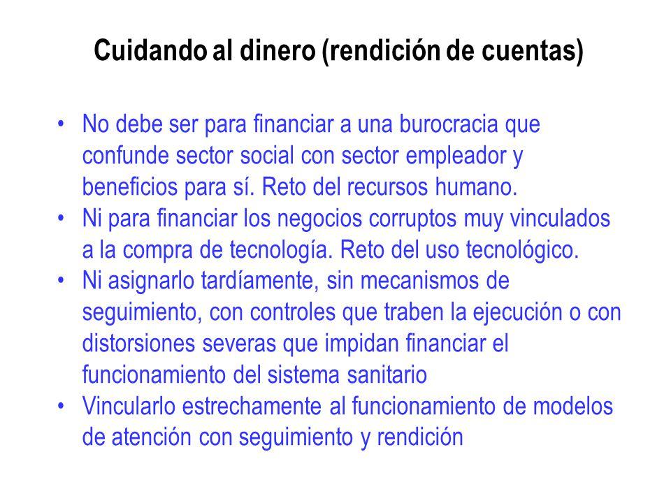 Cuidando al dinero (rendición de cuentas) No debe ser para financiar a una burocracia que confunde sector social con sector empleador y beneficios par