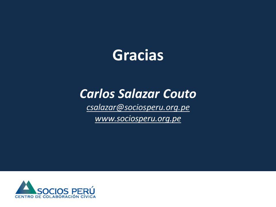 Gracias Carlos Salazar Couto csalazar@sociosperu.org.pe www.sociosperu.org.pe