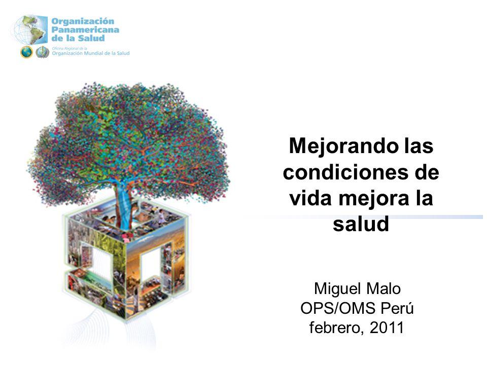 Mejorando las condiciones de vida mejora la salud Miguel Malo OPS/OMS Perú febrero, 2011