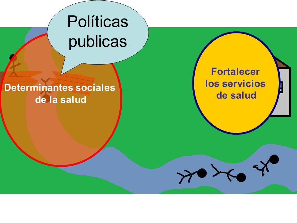 Determinantes sociales de la salud Fortalecer los servicios de salud Políticas publicas