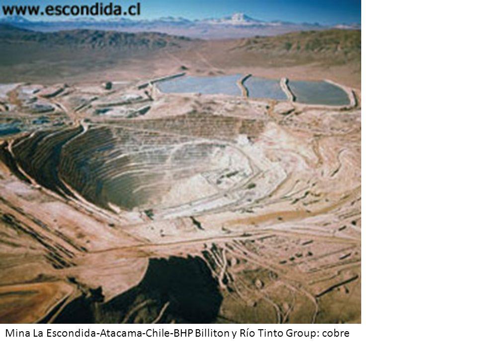 Mina La Escondida-Atacama-Chile-BHP Billiton y Río Tinto Group: cobre