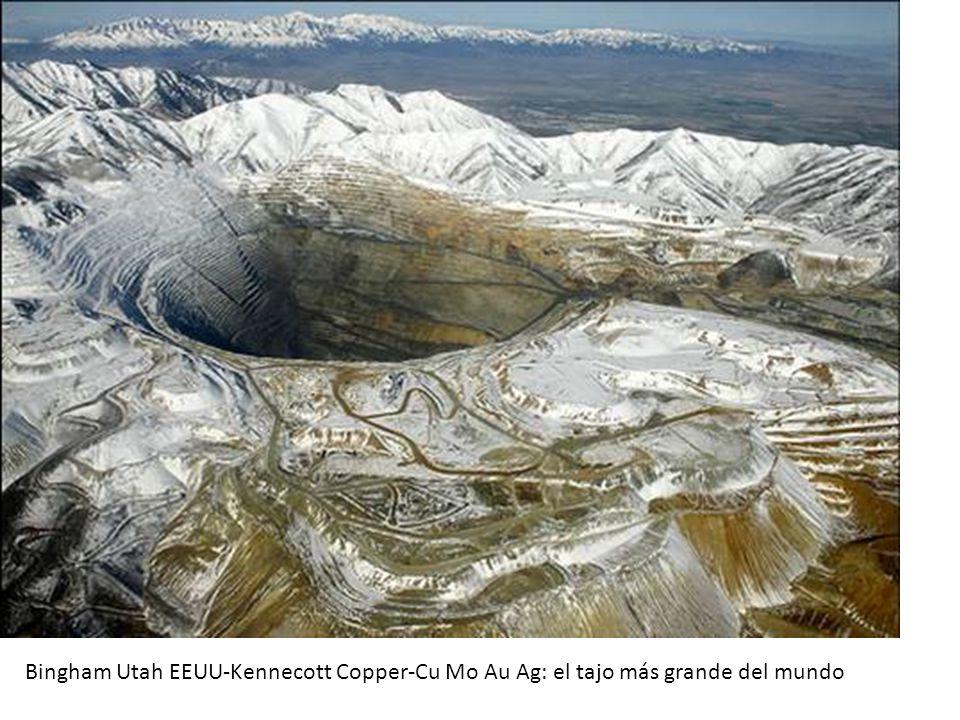 Bingham Utah EEUU-Kennecott Copper-Cu Mo Au Ag: el tajo más grande del mundo