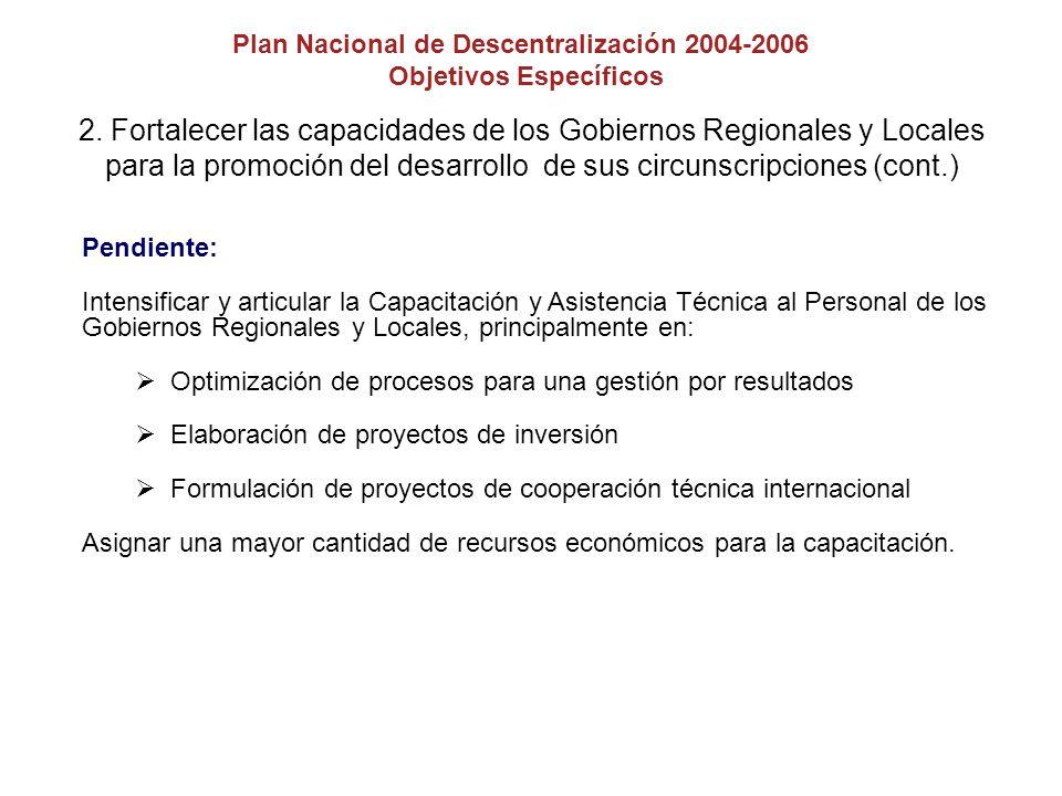 La Regionalización Consejo Nacional de Descentralización