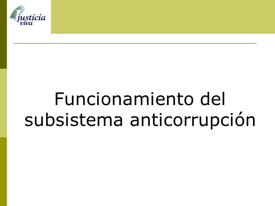 Funcionamiento del subsistema anticorrupción