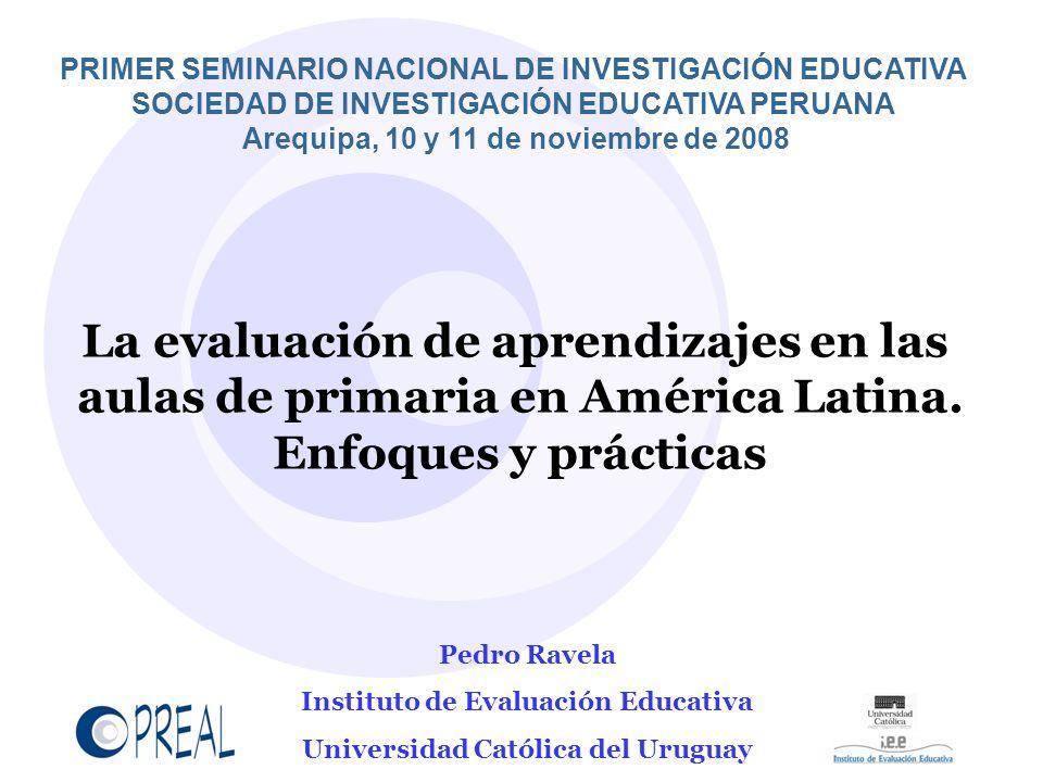 La evaluación de aprendizajes en las aulas de primaria en América Latina.