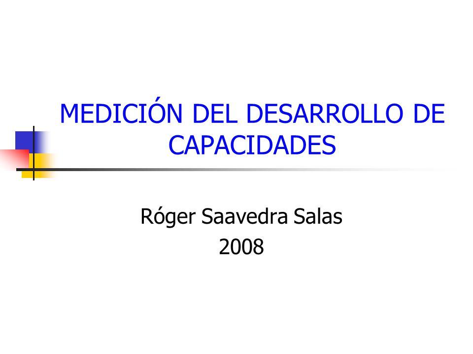 MEDICIÓN DEL DESARROLLO DE CAPACIDADES Róger Saavedra Salas 2008