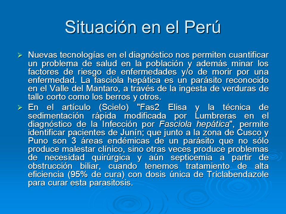 Situación en el Perú Nuevas tecnologías en el diagnóstico nos permiten cuantificar un problema de salud en la población y además minar los factores de