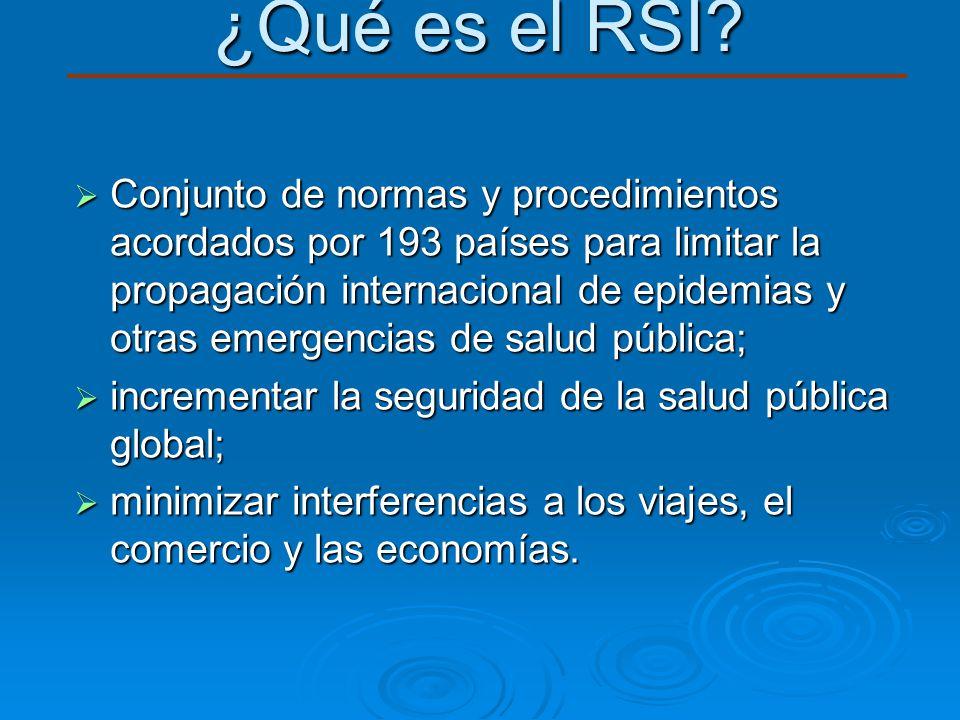 Conjunto de normas y procedimientos acordados por 193 países para limitar la propagación internacional de epidemias y otras emergencias de salud públi