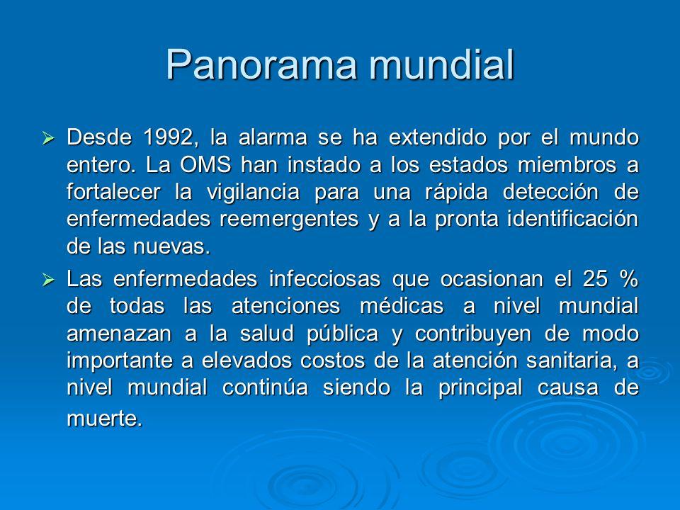 En resumen, las enfermedades re-emergentes y emergentes son de gran importancia para el país.